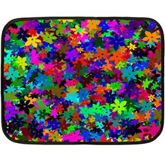 Flowersfloral Star Rainbow Fleece Blanket (mini) by Mariart