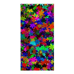 Flowersfloral Star Rainbow Shower Curtain 36  X 72  (stall)  by Mariart