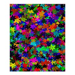 Flowersfloral Star Rainbow Shower Curtain 60  X 72  (medium)  by Mariart