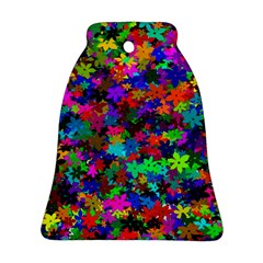 Flowersfloral Star Rainbow Ornament (bell) by Mariart
