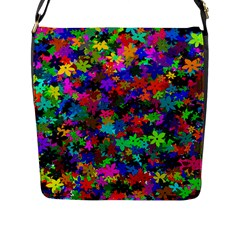 Flowersfloral Star Rainbow Flap Messenger Bag (l)  by Mariart