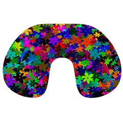Flowersfloral Star Rainbow Travel Neck Pillows by Mariart