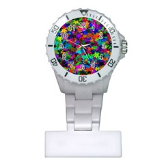 Flowersfloral Star Rainbow Plastic Nurses Watch by Mariart