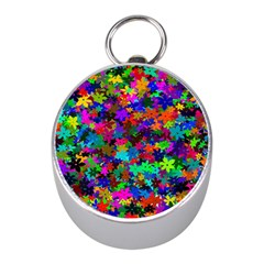 Flowersfloral Star Rainbow Mini Silver Compasses by Mariart