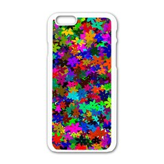 Flowersfloral Star Rainbow Apple Iphone 6/6s White Enamel Case by Mariart