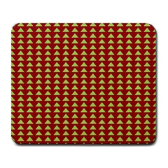 Hawthorn Sharkstooth Triangle Green Red Large Mousepads by Mariart