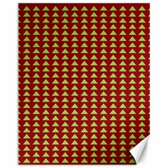 Hawthorn Sharkstooth Triangle Green Red Canvas 11  X 14   by Mariart