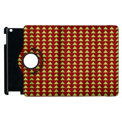 Hawthorn Sharkstooth Triangle Green Red Apple Ipad 3/4 Flip 360 Case by Mariart