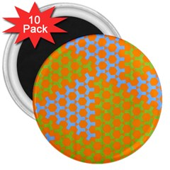 Green Blue Orange 3  Magnets (10 Pack)  by Mariart