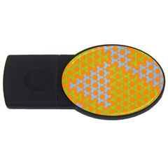 Green Blue Orange Usb Flash Drive Oval (4 Gb) by Mariart