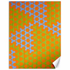 Green Blue Orange Canvas 18  X 24   by Mariart