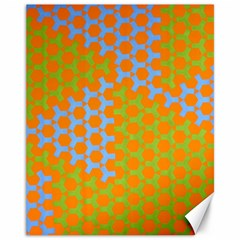 Green Blue Orange Canvas 11  X 14   by Mariart