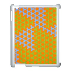 Green Blue Orange Apple Ipad 3/4 Case (white) by Mariart