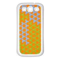 Green Blue Orange Samsung Galaxy S3 Back Case (white) by Mariart