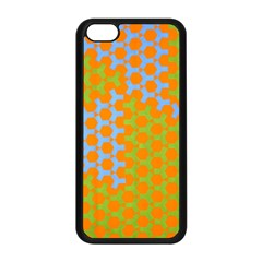 Green Blue Orange Apple Iphone 5c Seamless Case (black) by Mariart
