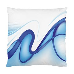 Glittering Abstract Lines Blue Wave Chefron Standard Cushion Case (one Side) by Mariart