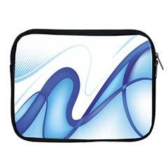 Glittering Abstract Lines Blue Wave Chefron Apple Ipad 2/3/4 Zipper Cases by Mariart