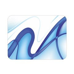 Glittering Abstract Lines Blue Wave Chefron Double Sided Flano Blanket (mini)  by Mariart