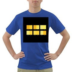 Horizontal Color Scheme Plaid Black Yellow Dark T Shirt by Mariart