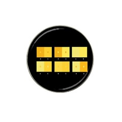 Horizontal Color Scheme Plaid Black Yellow Hat Clip Ball Marker (4 Pack) by Mariart