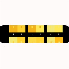 Horizontal Color Scheme Plaid Black Yellow Large Bar Mats by Mariart