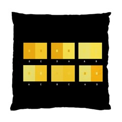 Horizontal Color Scheme Plaid Black Yellow Standard Cushion Case (one Side) by Mariart