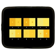 Horizontal Color Scheme Plaid Black Yellow Netbook Case (xxl)  by Mariart