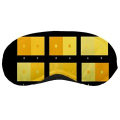 Horizontal Color Scheme Plaid Black Yellow Sleeping Masks by Mariart
