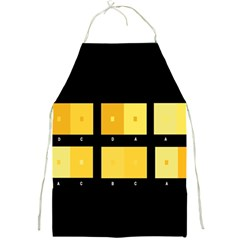 Horizontal Color Scheme Plaid Black Yellow Full Print Aprons by Mariart