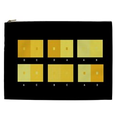 Horizontal Color Scheme Plaid Black Yellow Cosmetic Bag (xxl)  by Mariart