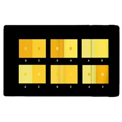 Horizontal Color Scheme Plaid Black Yellow Apple Ipad 3/4 Flip Case by Mariart