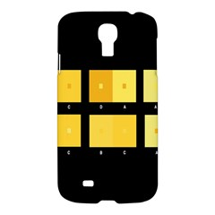 Horizontal Color Scheme Plaid Black Yellow Samsung Galaxy S4 I9500/i9505 Hardshell Case by Mariart