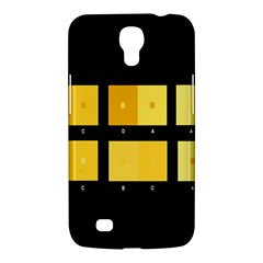 Horizontal Color Scheme Plaid Black Yellow Samsung Galaxy Mega 6 3  I9200 Hardshell Case by Mariart