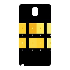 Horizontal Color Scheme Plaid Black Yellow Samsung Galaxy Note 3 N9005 Hardshell Back Case by Mariart