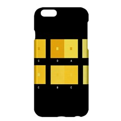 Horizontal Color Scheme Plaid Black Yellow Apple Iphone 6 Plus/6s Plus Hardshell Case by Mariart