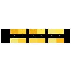 Horizontal Color Scheme Plaid Black Yellow Flano Scarf (small) by Mariart