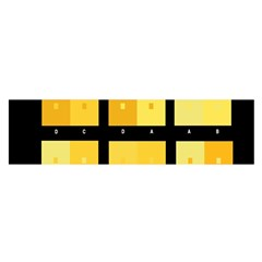 Horizontal Color Scheme Plaid Black Yellow Satin Scarf (oblong) by Mariart