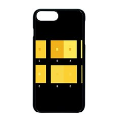Horizontal Color Scheme Plaid Black Yellow Apple Iphone 7 Plus Seamless Case (black) by Mariart