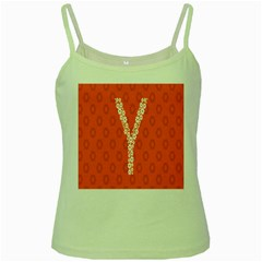 Iron Orange Y Combinator Gears Green Spaghetti Tank by Mariart