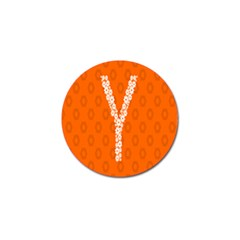 Iron Orange Y Combinator Gears Golf Ball Marker (4 Pack)