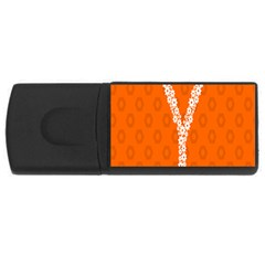 Iron Orange Y Combinator Gears Usb Flash Drive Rectangular (4 Gb) by Mariart