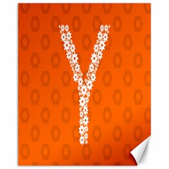 Iron Orange Y Combinator Gears Canvas 16  X 20   by Mariart