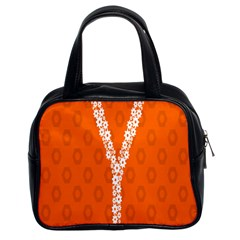 Iron Orange Y Combinator Gears Classic Handbags (2 Sides) by Mariart