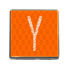 Iron Orange Y Combinator Gears Memory Card Reader (square) by Mariart