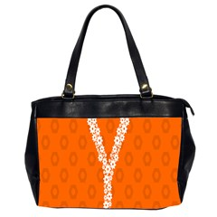 Iron Orange Y Combinator Gears Office Handbags (2 Sides)  by Mariart