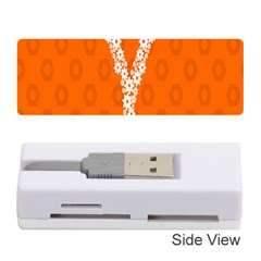 Iron Orange Y Combinator Gears Memory Card Reader (stick)  by Mariart