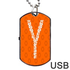 Iron Orange Y Combinator Gears Dog Tag Usb Flash (one Side) by Mariart