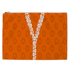 Iron Orange Y Combinator Gears Cosmetic Bag (xxl)  by Mariart