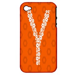 Iron Orange Y Combinator Gears Apple Iphone 4/4s Hardshell Case (pc+silicone) by Mariart