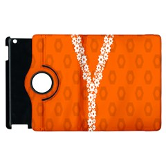 Iron Orange Y Combinator Gears Apple Ipad 2 Flip 360 Case by Mariart